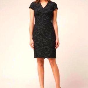 Designer LK Bennett Joyce tweed dress s 12